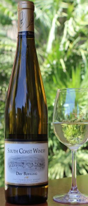 South Coast Winery 2007 Dry Riesling Bottle