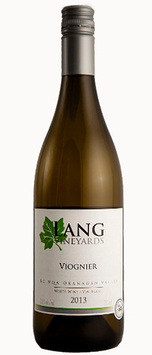 Lang Vineyards 2013 Viognier Bottle