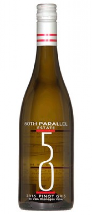 50th Parallel Estate 2016 Pinot Gris Bottle