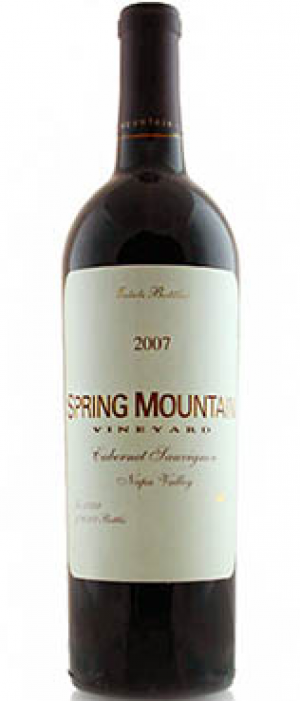 Spring Mountain Vineyard 2007 Cabernet Sauvignon Bottle