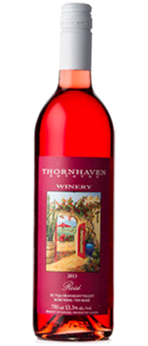 Thornhaven Estates Winery 2013 Roses Bottle