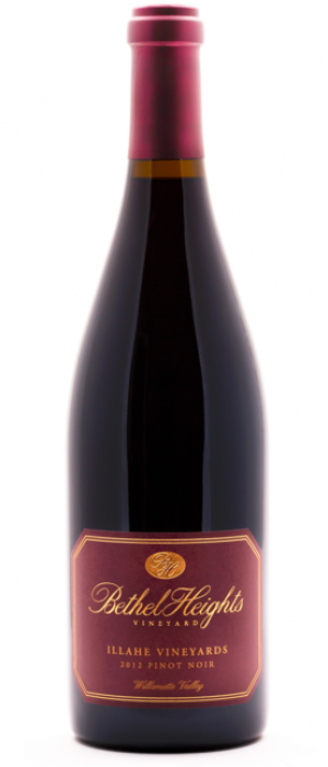 Bethel Heights Illahe Vineyards 2012 Pinot Noir Bottle