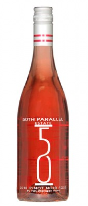 50th Parallel Estate 2016 Pinot Noir Bottle