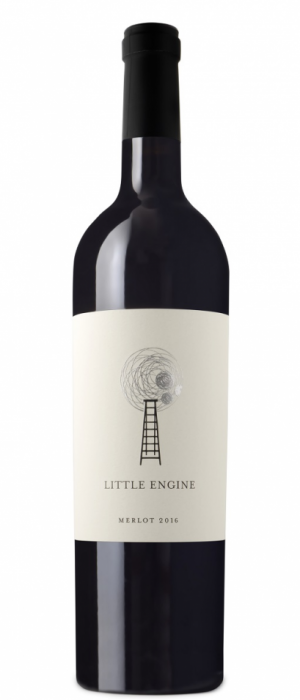 Little Engine Wines 2016 Silver Merlot Bottle