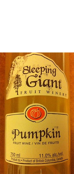 Sleeping Giant Fruit Winery Pumpkin Wine Bottle