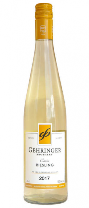 Gehringer Brothers Classic Riesling 2017 Bottle