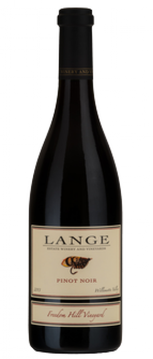 Lange Estate Winery and Vineyards Freedom Hill Vineyard 2012 Pinot Noir Bottle