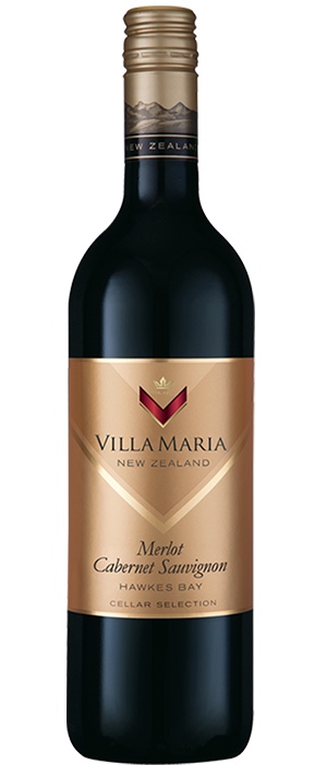 Villa Maria Cellar Selection 2012 Hawkes Bay Merlot-Cabernet Sauvignon Bottle