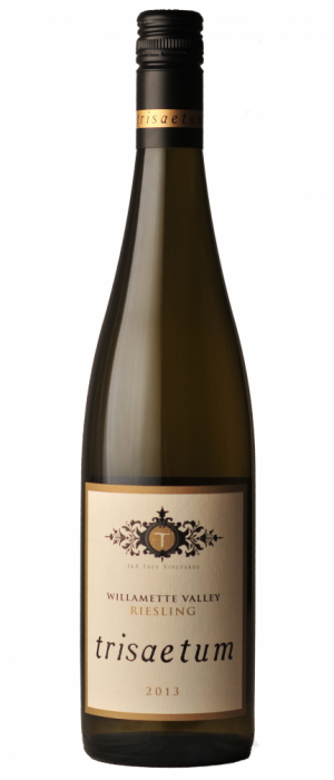 Trisaetum 2013 Off-Dry Riesling Bottle
