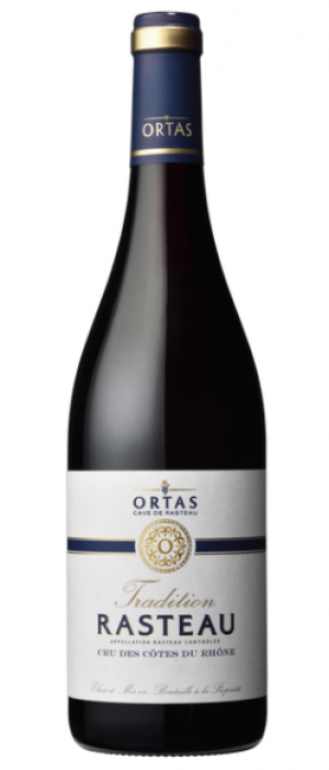 Ortas Tradition AOP Rasteau Rouge Bottle