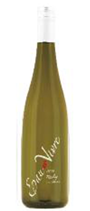 Eau Vivre Winery 2012 Riesling Bottle