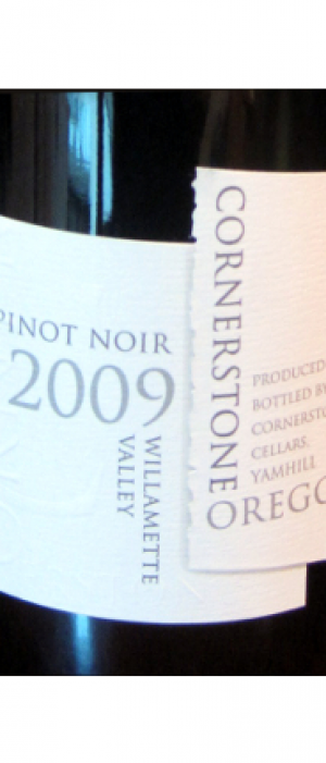 Cornerstone Cellars 2009 Pinot Noir Bottle