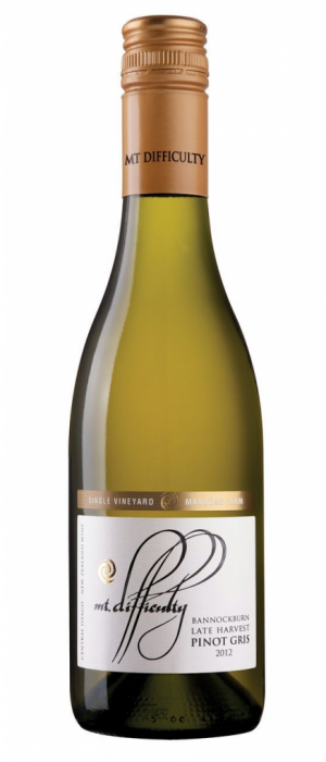 Mt. Difficulty 2012 Bannockburn, Mansons Farm, Late Harvest Pinot Gris Bottle