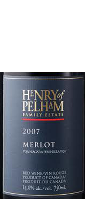 Henry of Pelham 2007 Merlot Bottle