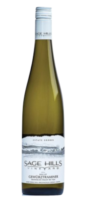 Sage Hills Organic Vineyard & Winery 2015 Gewürztraminer Bottle