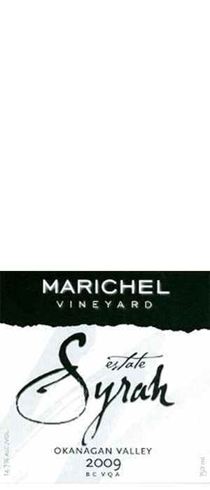 Marichel Vineyard & Winery 2009 Syrah (Shiraz) Bottle