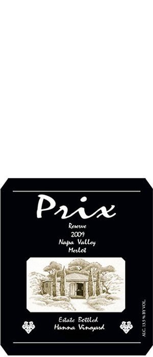 Prix Reserve Napa Valley Merlot Bottle