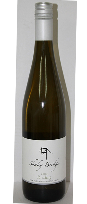 Shaky Bridge Wines 2013 Riesling Bottle