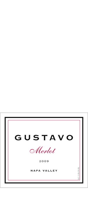 Gustavo  Merlot Napa Valley Bottle