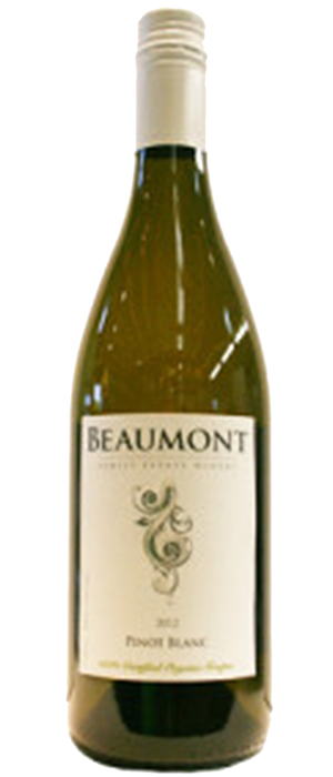 Beaumont Family Estate Winery 2012 Pinot Blanc Bottle