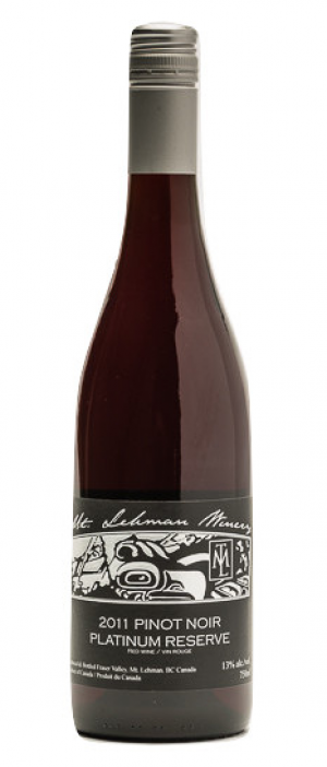 Mt. Lehman Winery 2016 Pinot Noir Platinum Reserve Bottle