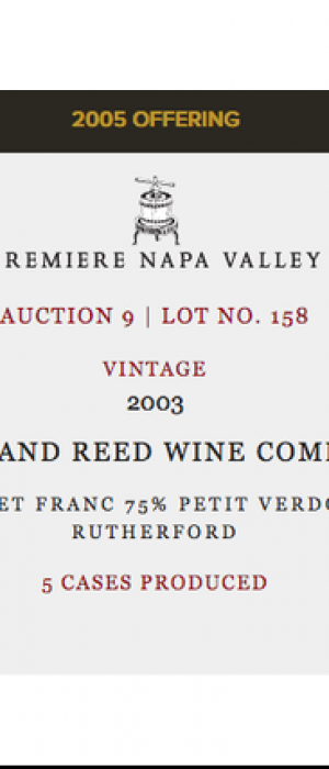 Lang and Reed Wine Company Premiere Napa Valley Auction 9 | Lot No. 158 2003 Cabernet Franc Bottle
