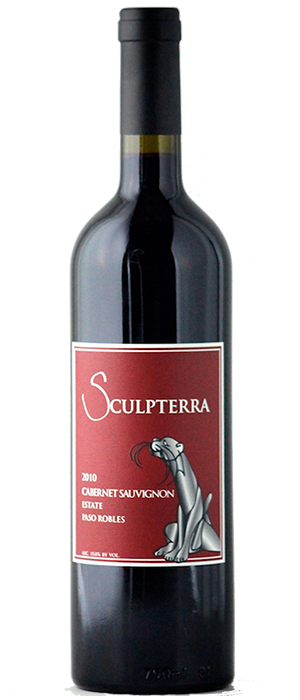 Sculpterra Winery & Sculpture Garden 2010 Cabernet Sauvignon Bottle