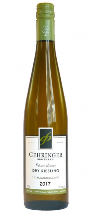 Gehringer Brothers Private Reserve 2017 Dry Riesling Bottle