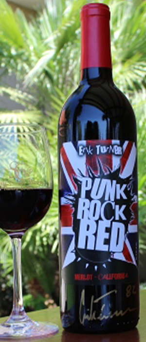 Punk Rock Red Merlot Bottle