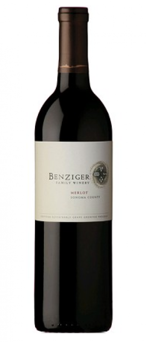 Benziger Family Winery 2012 Merlot Bottle