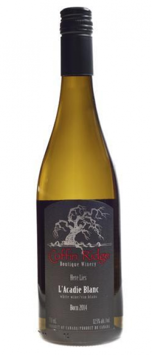 Coffin Ridge Boutique Winery 2016 l'Acadie Blanc Bottle