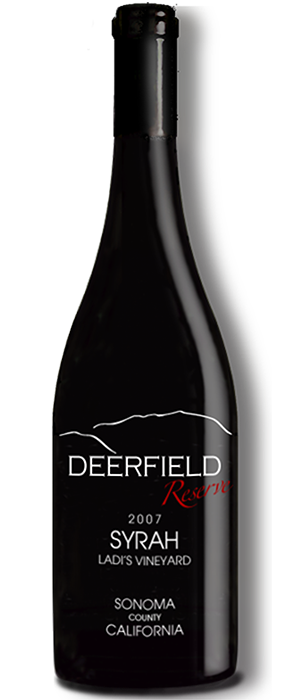 Deerfield Ranch Winery Reserve 2007 Syrah Bottle