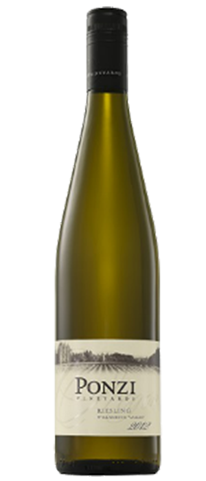 Ponzi Vineyards 2012 Riesling Bottle