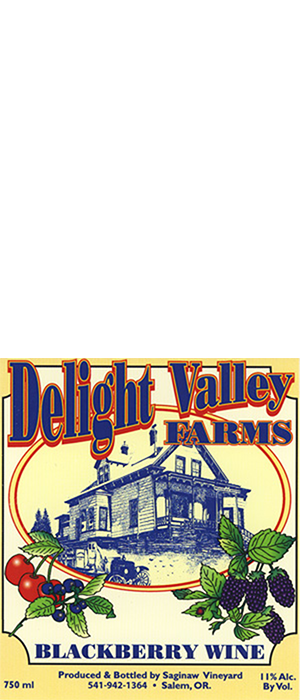 Delight Valley Farms Blackberry Wine Bottle