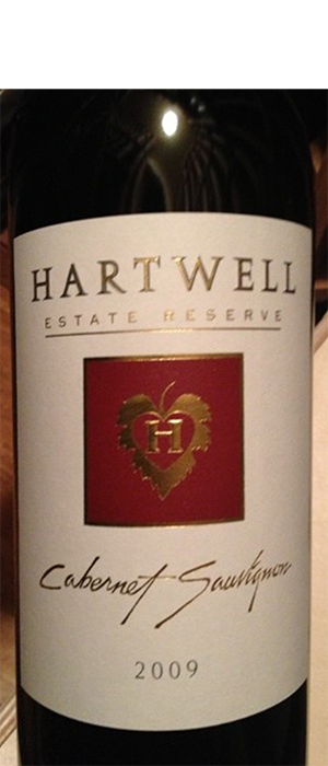 Hartwell Estate Reserve Cabernet Sauvignon Bottle