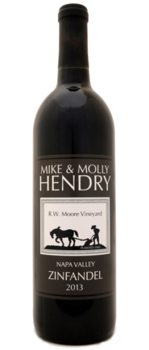 Mike and Molly Hendry 2013 Zinfandel Bottle