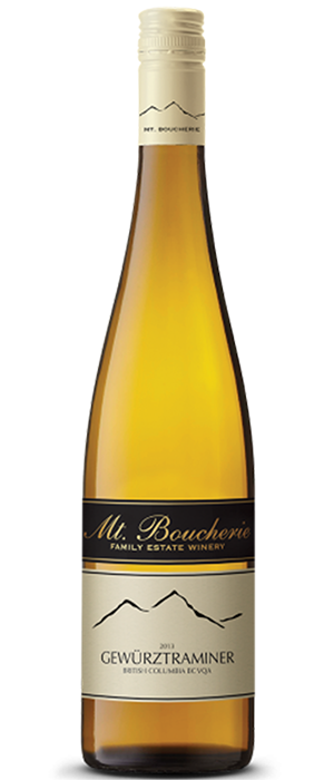 Mt. Boucherie Winery 2013 Gewürztraminer Bottle