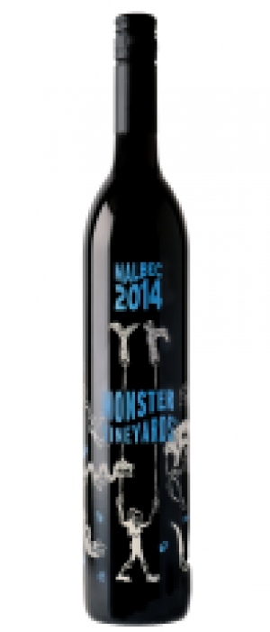 Monster Vineyards 2014 Malbec Bottle
