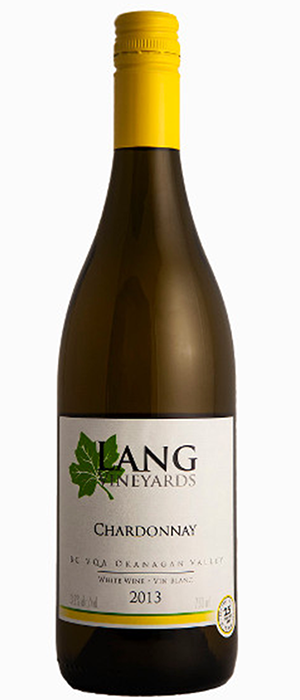 Lang Vineyards 2013 Chardonnay Bottle