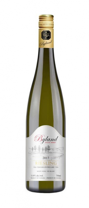Byland Estate Winery 2017 Riesling Bottle