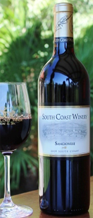 South Coast Winery 2009 Sangiovese Bottle
