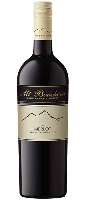 Mt. Boucherie Winery 2012 Merlot Bottle