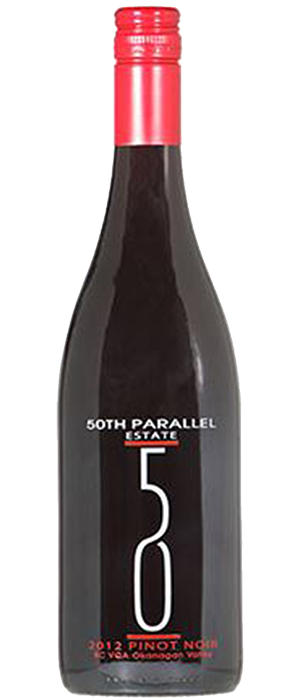 50th Parallel Estate 2012 Pinot Noir Bottle