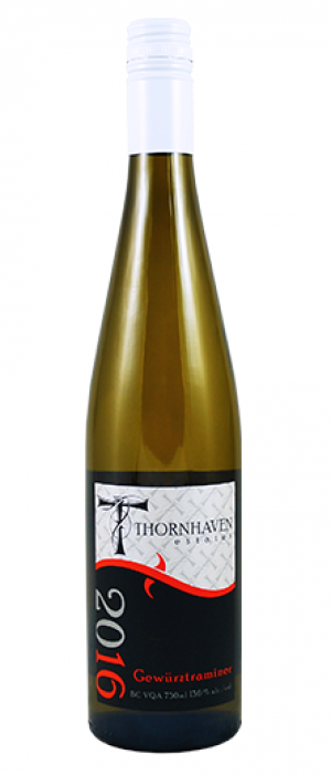 Thornhaven Estates Winery 2016 Gewürztraminer Bottle