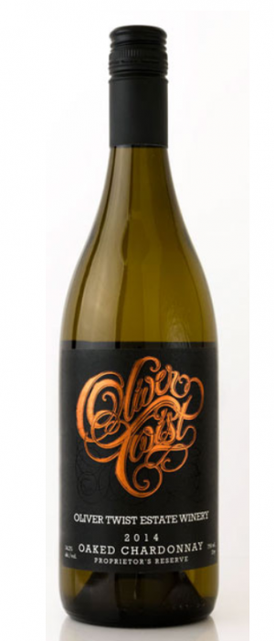 Oliver Twist Estate Winery 2014 Chardonnay Bottle