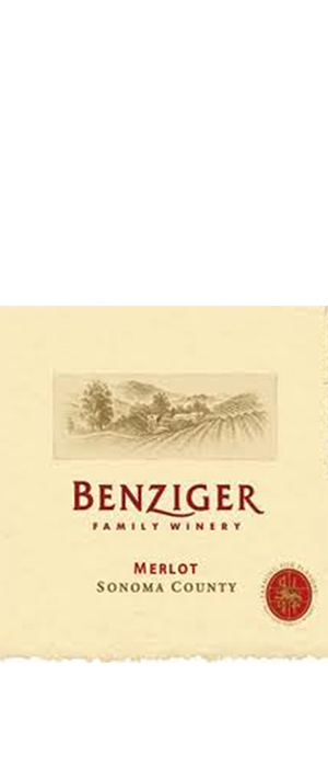 Benziger Family Winery 2013 Merlot Bottle