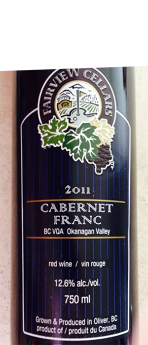 Fairview Cellars 2011 Cabernet Franc Bottle