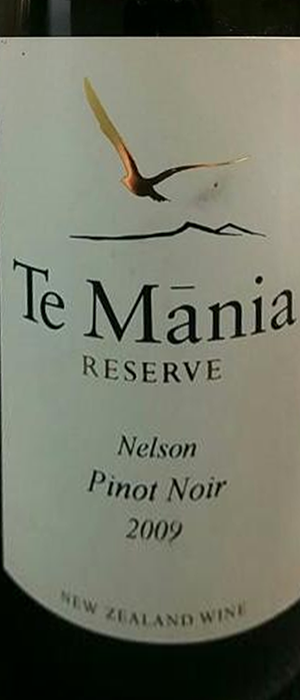 Te Mãnia Estate 2009 Pinot Noir | Red Wine
