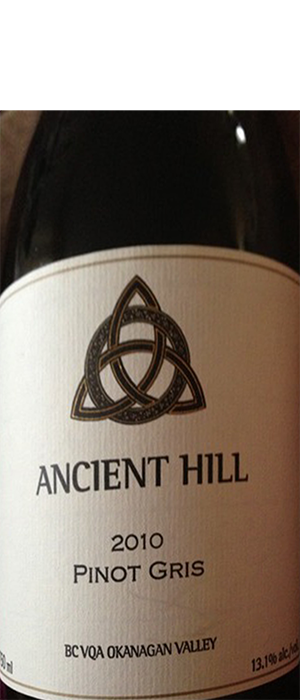 Ancient Hill Estate Winery 2010 Pinot Gris (Grigio) Bottle