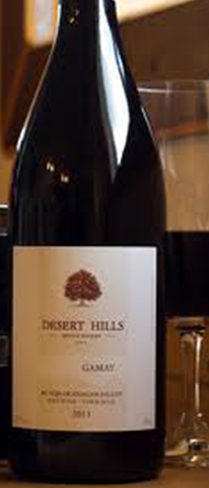 Desert Hills Estate Winery 2011 Gamay Bottle